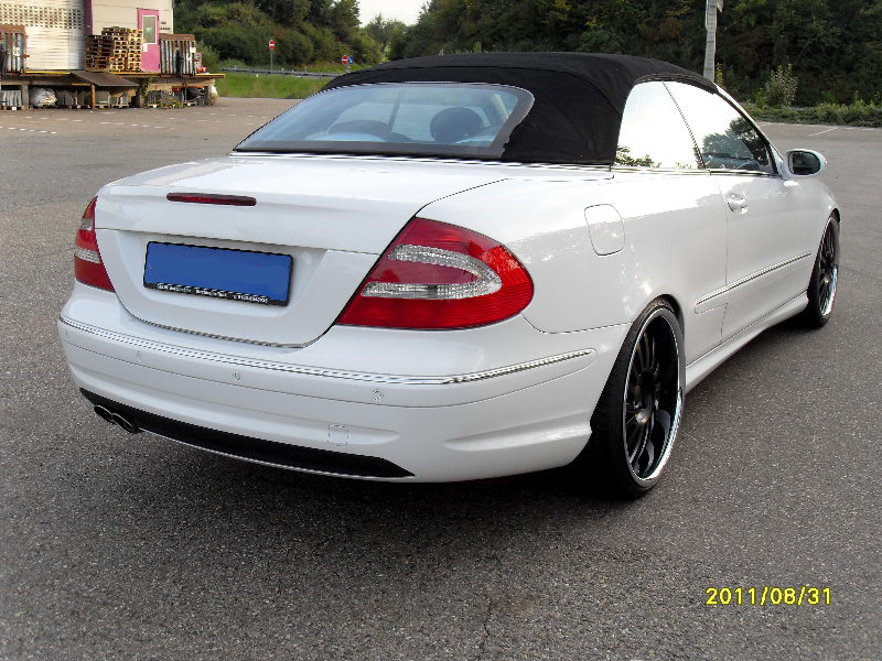 mercedes clk cabrio w209 weiss tuning felgen amg packet ebay. Black Bedroom Furniture Sets. Home Design Ideas